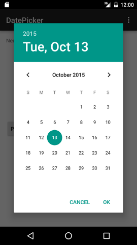 Android Date Picker Example in Android Studio#1