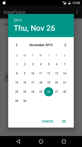 Android Date Picker Example in Android Studio#2