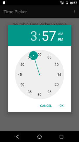 Android Time Picker Example in Android Studio#2