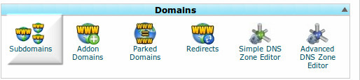 creating subdomain in cpanel image
